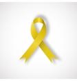 Yellow awareness ribbon vector image