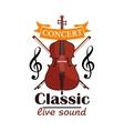 Double Bass Classic live concert emblem vector image