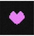 pixel art heart valentine day flat design vector image