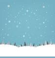 vintage winter poster vector image