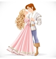 Romantic scene of a fabulous prince and princess vector image
