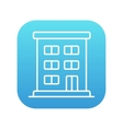 Residential buildings line icon vector image