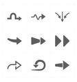 9 new simple arrows vector image
