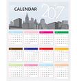 Calendar 2017 template design vector image