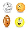 Cartoon sport balls vector image