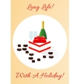 Gift card with holiday vector image