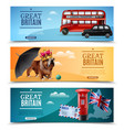 great britain travel horizontal banners vector image