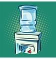 Hand drawn pop art of water cooler vector image
