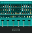 Pub interior with bar counter vector image