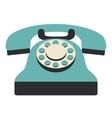Retro phone technology design vector image