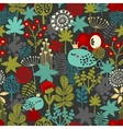 Seamless pattern with fantastic flora and fish vector image