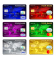 Template credit card set vector image
