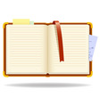 vector notepad organizer with bookmark vector image
