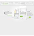 Website template design mobile template vector image