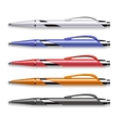 colored office pens set vector image