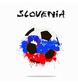 Flag of Slovenia as an abstract soccer ball vector image vector image