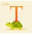 Abc alphabet animal art baby background cartoon vector image