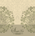 vintage damask invitation card vector image vector image