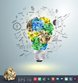 Great idea concept with crumpled colorful paper vector image