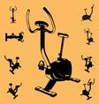 fitness equipment vector image vector image