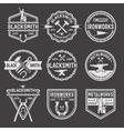 Blacksmith White Emblems On Black Background vector image