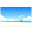 Idyllic Beach vector image