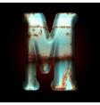 old metal letter vector image