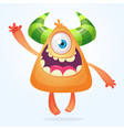 orange cartoo monster smiling vector image