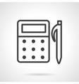 School supplies line icon Mathematics vector image