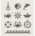 Sea and marine symbol set vector image