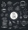 tea time set vector image