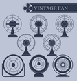 Vintage fan I part vector image
