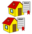 House for sale and for rent vector image