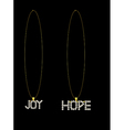 Gold diamond hope and joy necklaces vector image vector image
