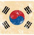 South korea retro flag vector image vector image