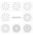 Abstract dot shapes set vector image