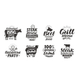 BBQ barbecue meat labels Collection elements vector image