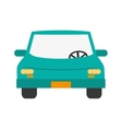 car frontview icon vector image