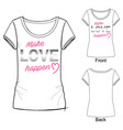 fashion print t shirt vector image