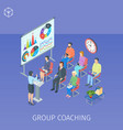 group coaching in training centre vector image