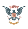 Happy labor day poster template Eagle isolate on vector image