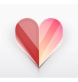Red Valentines Day paper card vector image