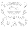 Swirl decorative elements vector image