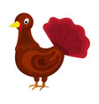 turkey icon cartoon for thanksgiving day vector image