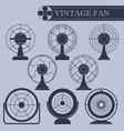 Vintage fan I part vector image