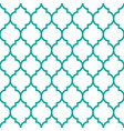 moroccan tiles design seamless turqoise pattern vector image
