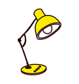 A view of desk lamp vector image