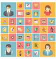 Square School Icons vector image