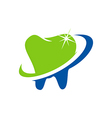 teeth care shine logo vector image