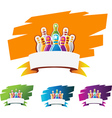 design element for bowling sport vector image vector image